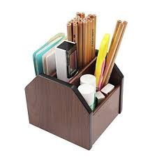 Wood Desk Accessories Pag Office Supplies Wood Desk Accessories Organizer Revolving Pen