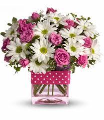 teleflora u0027s polka dots and posies in pratt ks the flower shoppe