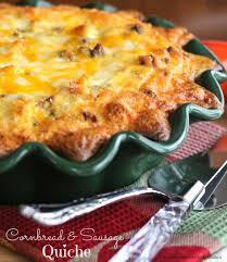 cornbread and sausage quiche melissassouthernstylekitchen com