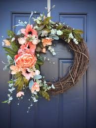 Spring Decoration by Spring Wreaths Spring Door Decor Spring Decorating Door Wreaths