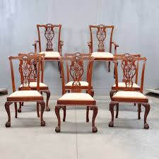 Chippendale Dining Room Set by Set Of Dining Chairs And Armchairs De Grande Antiques