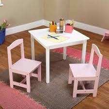 Toddler Table And Chairs Wood Kids Table Chair Set Of 3 Study Play Draw Fun Activity Toddlers