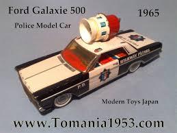 police car toy police car tin toy model usagiya rabbit trade mark made in japan