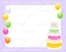 colorful birthday card invitation background with happy birthday