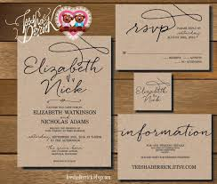 custom printable wedding invitation suite w0210 consists of