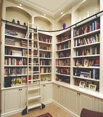 Rolling Bookcase Ladder by Custom Bookcase Shelves Thesecretconsul Com