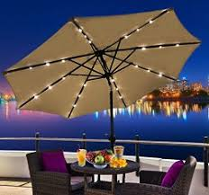 patio umbrella solar lights the urban backyard