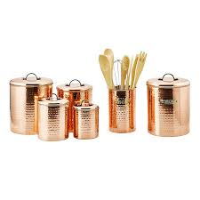 decorative canister sets kitchen amazon com old dutch international copper clad stainless steel