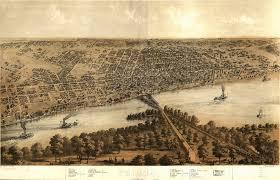 Moline Illinois Map by Birdseye Map Of Peoria Illinois 1867