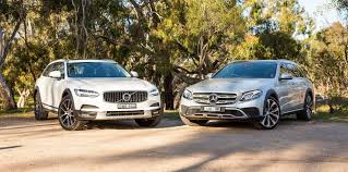 mercedes cross country mercedes e220d all terrain v volvo v90 cross country