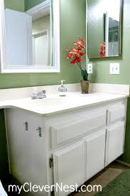 Painting A Bathroom Cabinet - clever nest diy repainting bathroom cabinets quick and easy