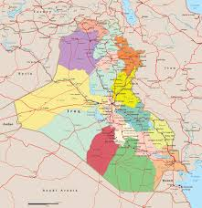 map of irak iraq map baghdad asia