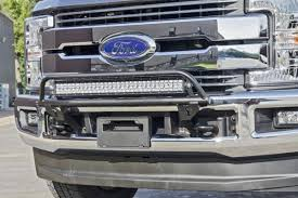 30 Led Light Bar by N Fab Ford F 350 2017 Or Series Bumper Light Bar For 30