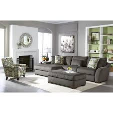 grey living room chairs living room furniture orleans gray 2 pc sectional la casita