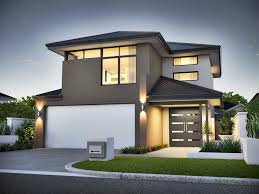 narrow lot homes two storey small architecture plans 50337