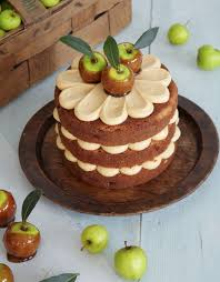 cake of the day toffee apple cake from lovely layer cakes