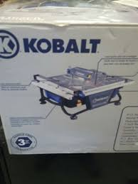 Kobalt 7 Inch Wet Tile Stone Saw with Laser and LED Work Light