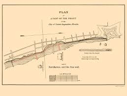 Marion County Zip Code Map by Old Map St Augustine Fort Marion Sea Wall Florida