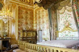 interior of royal bedroom at chateau de versailles palace of