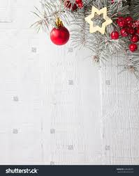 fir branch christmas decorations on white stock photo 343250237