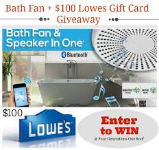bath fan and speaker in one win a bluetooth enabled fan 100 lowes gift card giveaway four