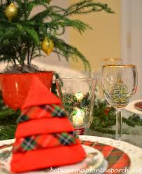 table setting tablescape with spode tree