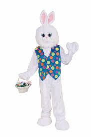 white rabbit halloween costume amazon com forum deluxe plush funny bunny mascot costume white