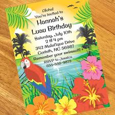 luau party party personalized invitations