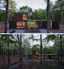 18 modern houses in the forest green roofs modern and house