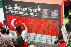 Singapore Flag Button Managing Singapore U0027s New Diversities