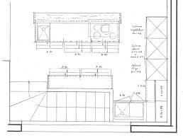 dimension ilot cuisine ilot central cuisine dimension plan 8 americaine avec blanche 640 x