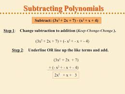 adding and subtracting polynomials like terms like terms refers