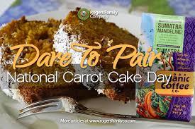 dare to pair carrot cake u0026 organic sumatra mandeling
