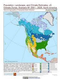 North America Map by Maps Population Landscape And Climate Estimates Place V3