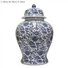 white ginger jar l paisley blue giant ginger jar bungalow 55