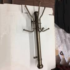 brass coat rack wall mounted coat holder hat and coat stand
