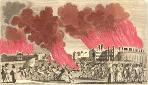 today in london u0027s penal history gordon rioters burn down the