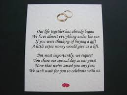 Money Wedding Gift Wedding Invitation Wording Asking For Money Instead Of Gifts