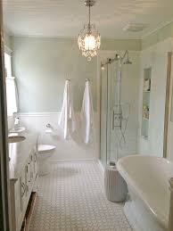 golden boys and me master bathroom with pedestal tub white