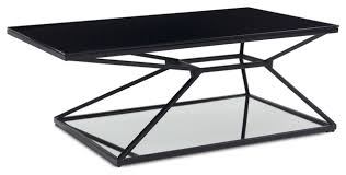 Furniture Wedge by Wedge Matte Black Steel Coffee Table Contemporary Coffee