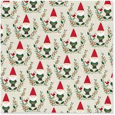 christmas wrapping paper santa gnomes christmas wrapping paper roll 45 sq ft wrapping