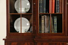 mahogany china cabinet furniture sold georgian 1930 s vintage mahogany breakfront bookcase china