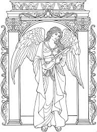 beautiful angel coloring page christmas fun pinterest angel