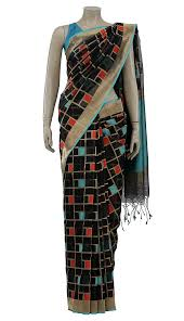 arong saree black and golden mirpur katan saree