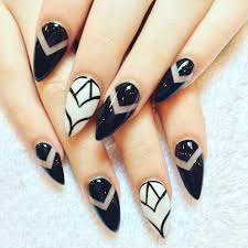 nail polish black and white acrylic nails awesome designer nail
