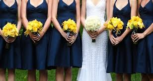 lemon yellow bridemaid dress ideas