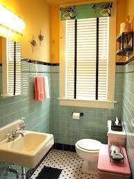 aqua and black tile bathroom built from scratch retro renovation