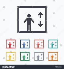 Elevator Symbol Floor Plan Elevator Sign Icon Person Symbol Down Stock Vector 361823297