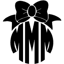 bow monogram monogram decals
