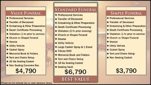 funeral packages westfield chapel funeral home